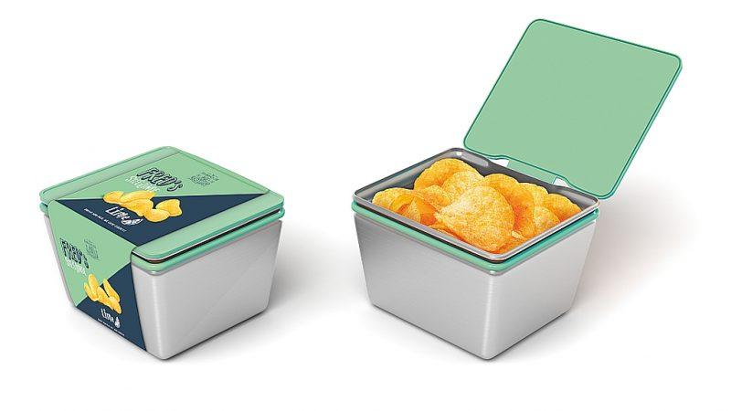 Chips in der Mehrwegbox