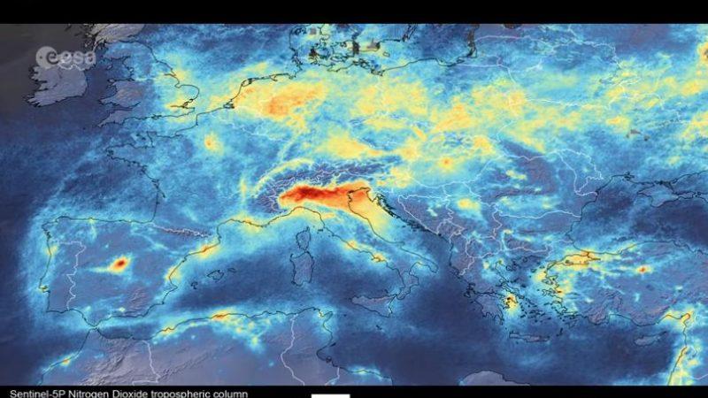Coronavirus: Rückgang der Stickstoffdioxid-Emissionen über Italien