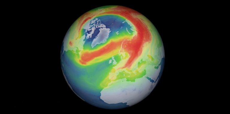 Ungewöhnliches Ozonloch über der Arktis