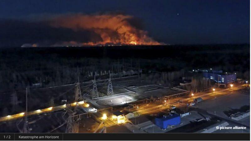 Waldbrände in der Sperrzone um Tschernobyl