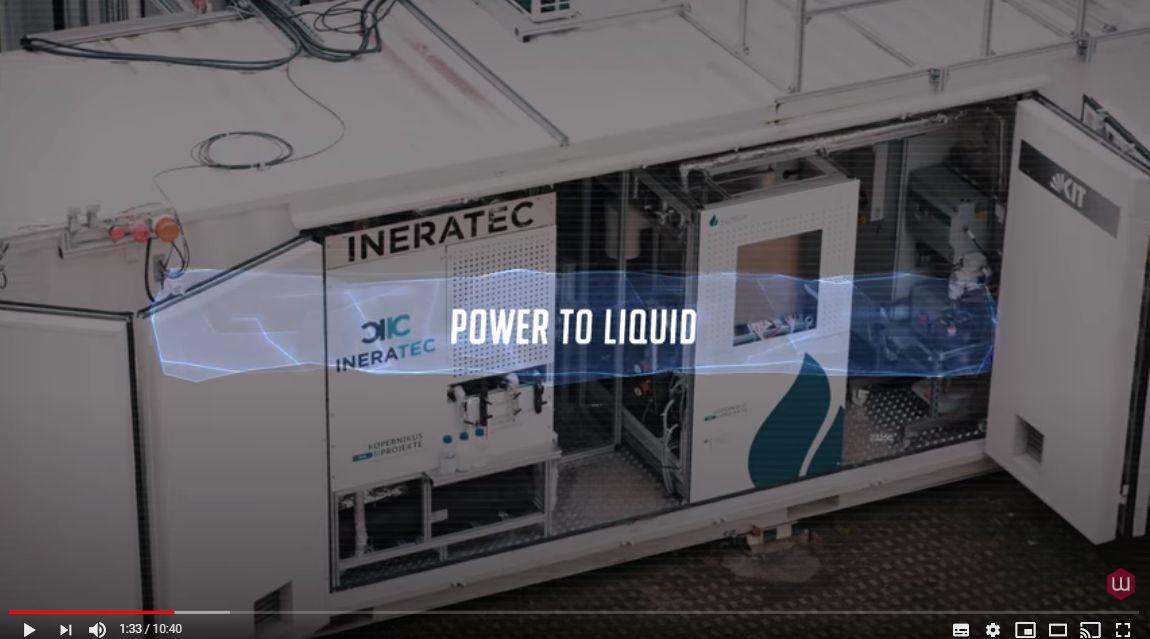 Kraftstoff aus CO2, grünem Strom und Wasser