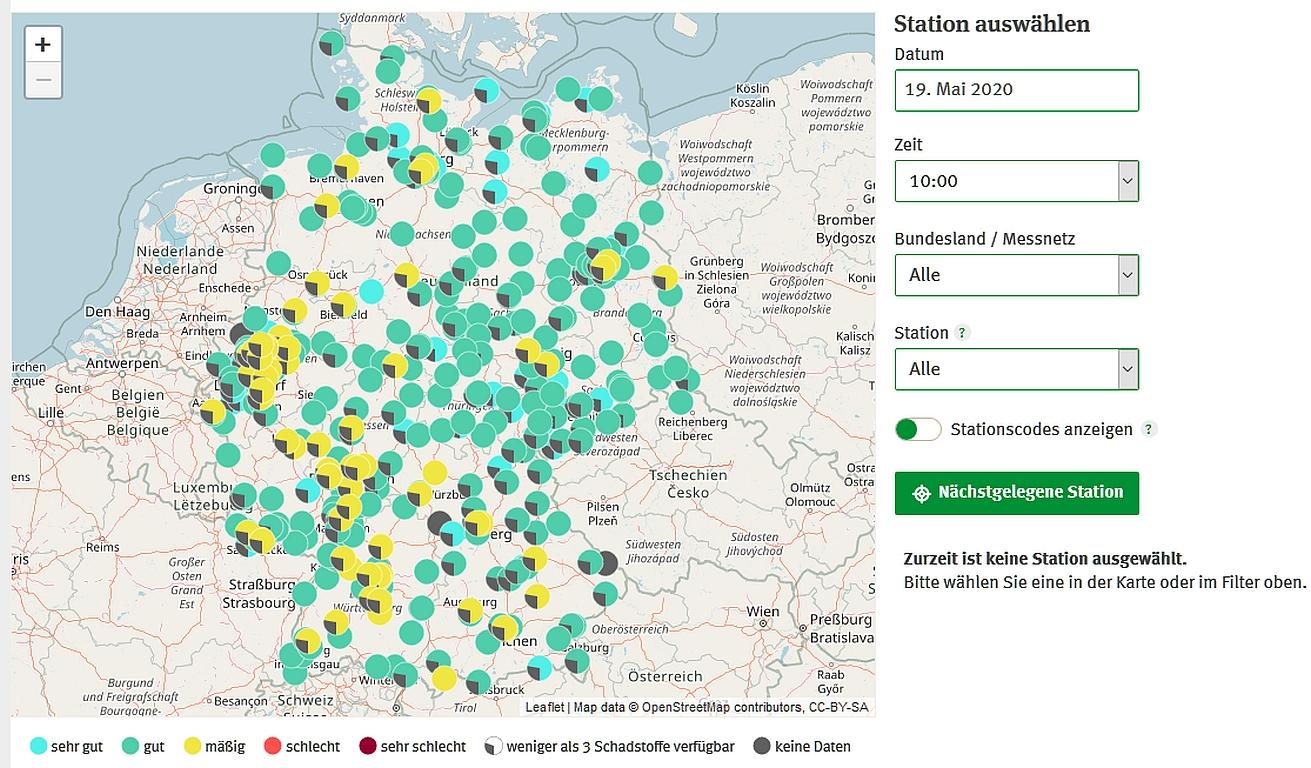 UBA erweitert App zur Luftqualität