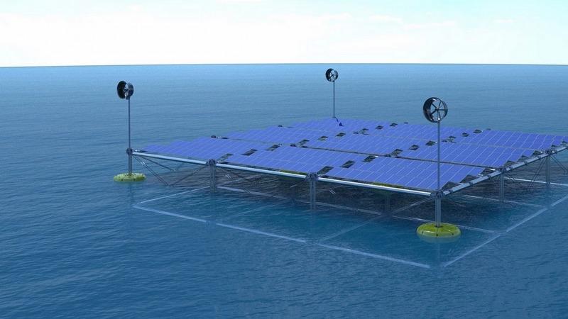 Wellen-Kraftwerk macht auch Wind- und Sonnenstrom