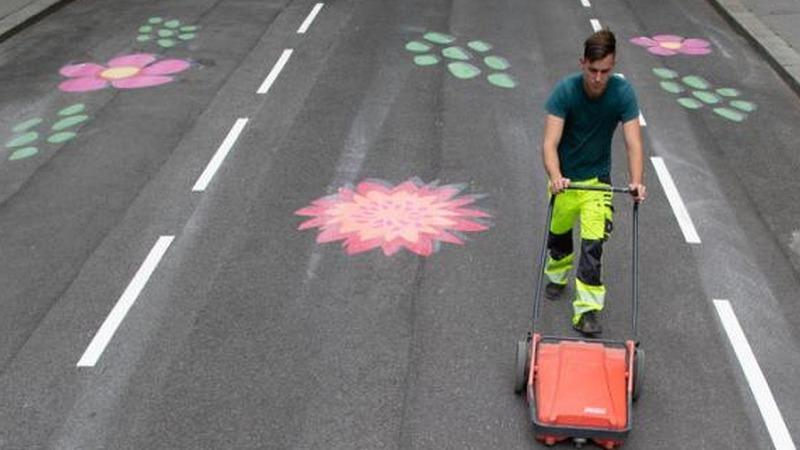 Farbe soll Verkehr bändigen