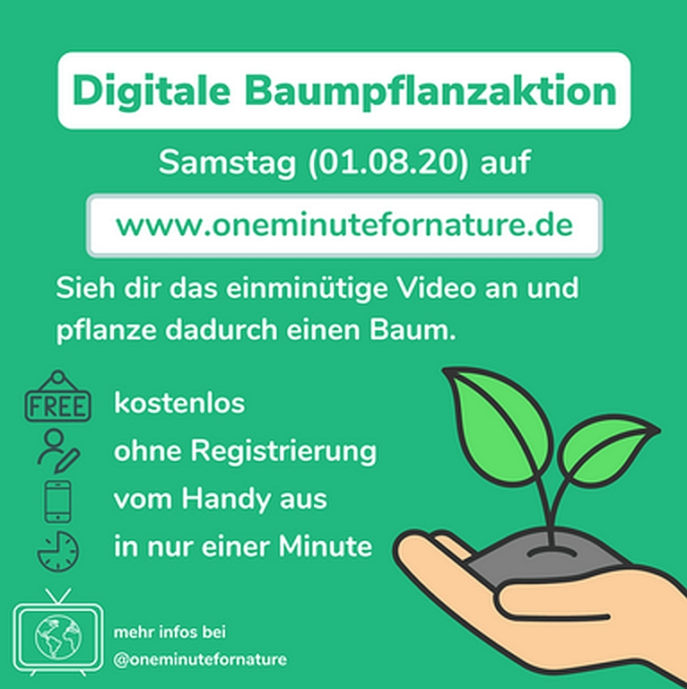 Digitale Baumpflanzaktion