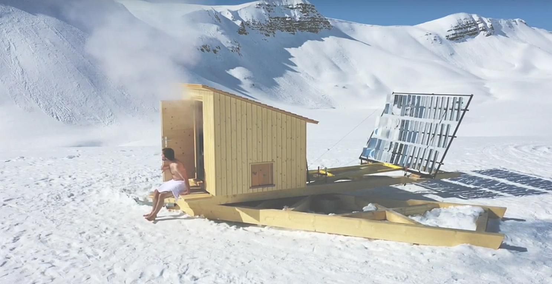 Nachhaltige Wellness in der neuartigen Solar-Sauna