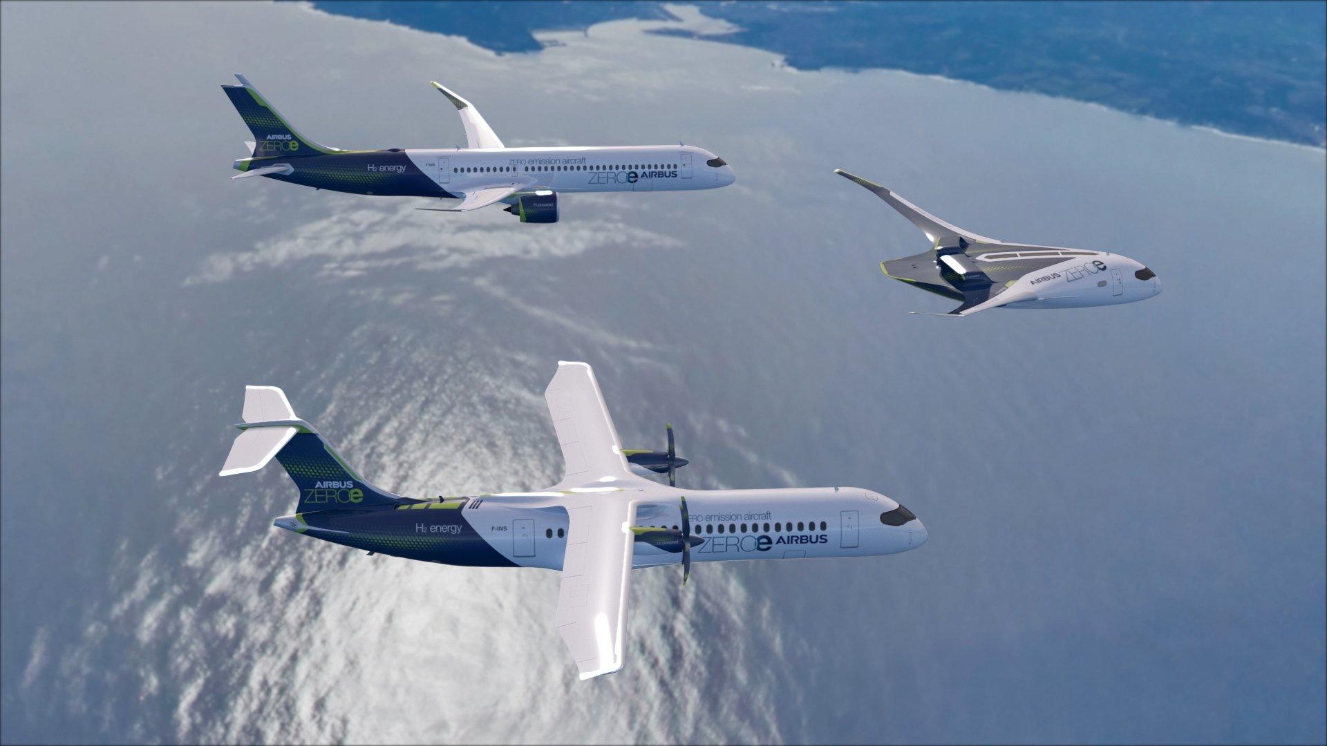 Airbus arbeitet an Wasserstoff-Flugzeug