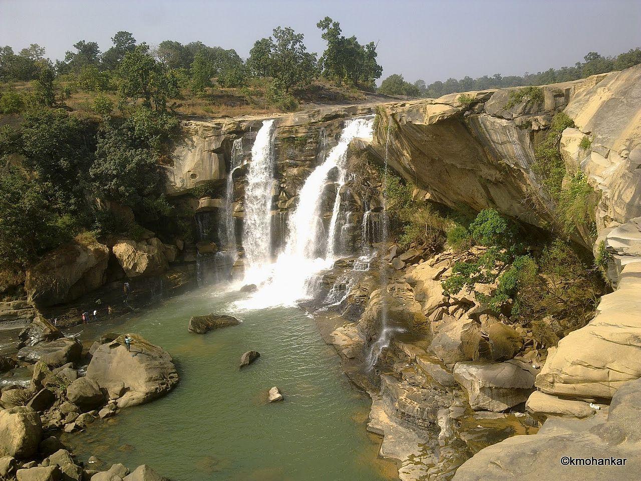 Amritdhara Waterfall on Hasdeo River in Koriya Distt Chhattisgarh panoramio Kailash Mohankar wikiccby30