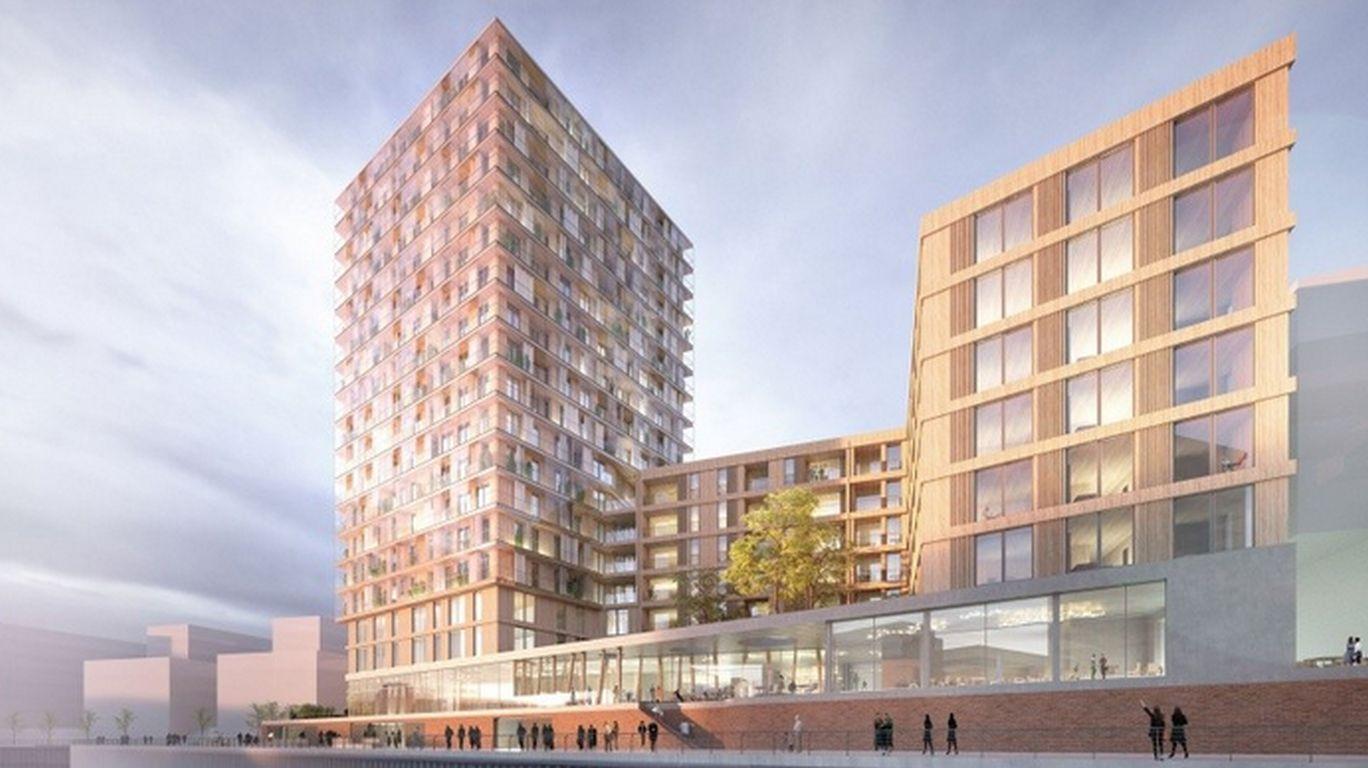 Hochhaus aus Holz für Hamburg