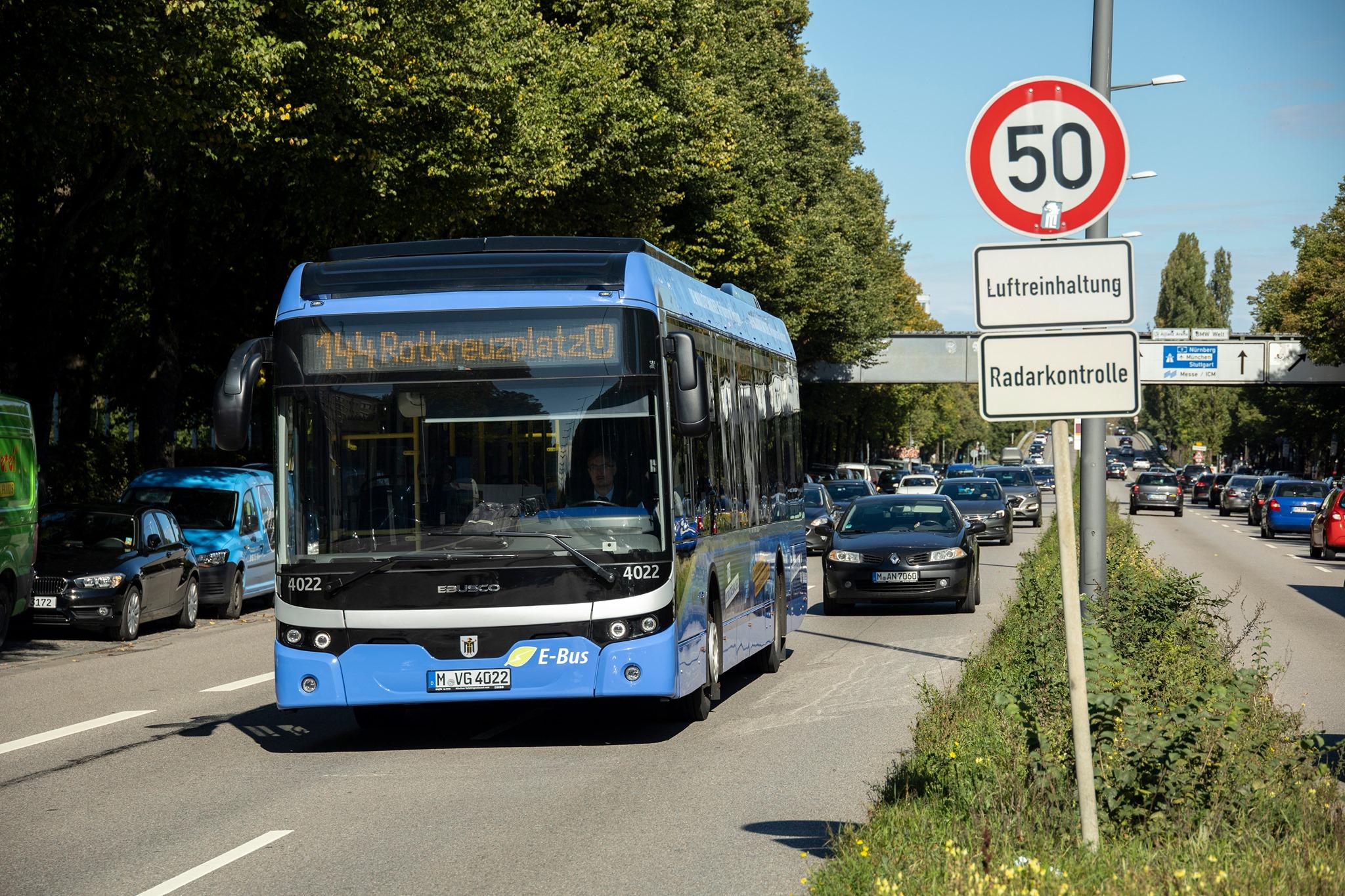 München hat eine erste komplette E-Bus-Linie