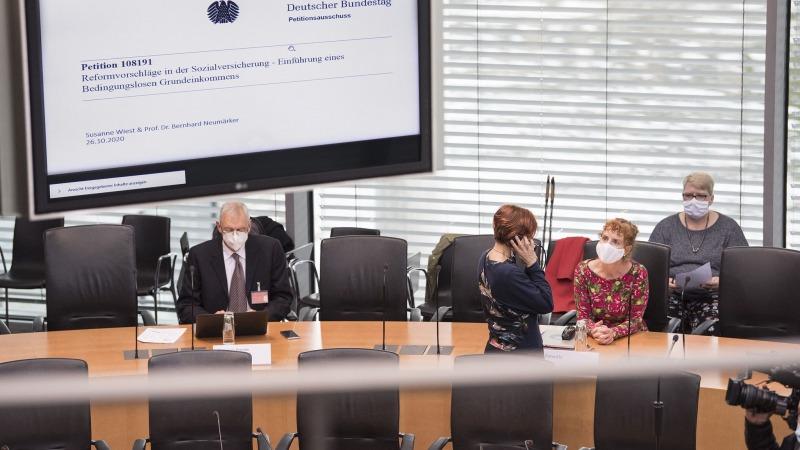 Grundeinkommen: Anhörung im Bundestag