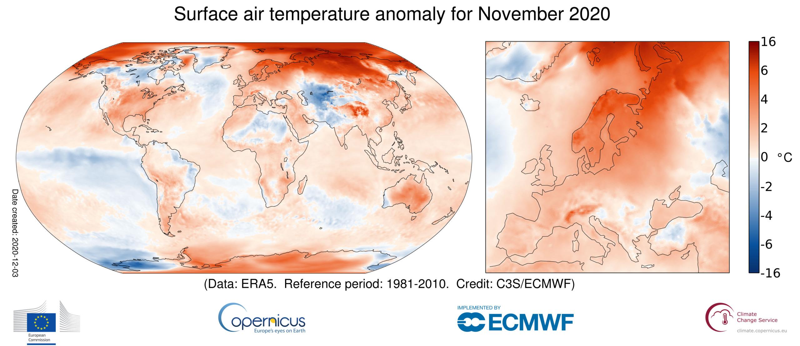 Wärmster November seit Aufzeichnungsbeginn