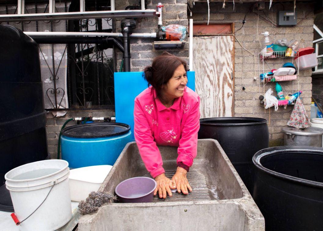 regenwassernutzung Isla Urbana Marcelo Castillo poonal