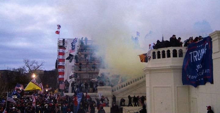 Capitol Tear Gas outside Capitol Tyler Merbler cc