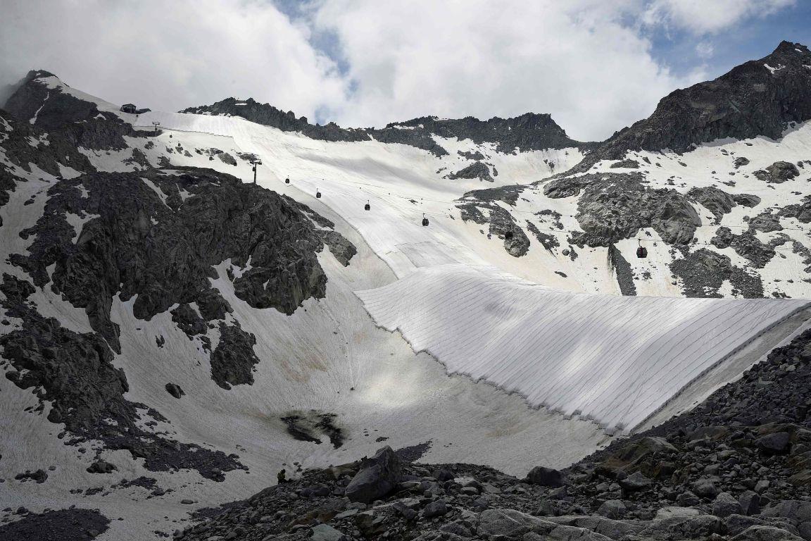 Gletscherschutzvlies auf Umweltbild des Jahres