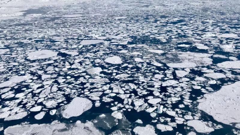 Treibhausgas vom eisigen Meeresgrund