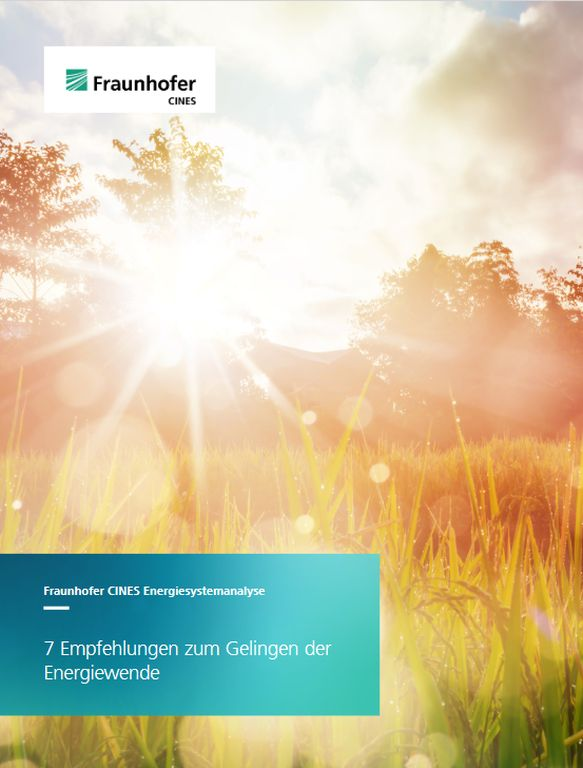 Cover Fraunhofer Klimawendestudie