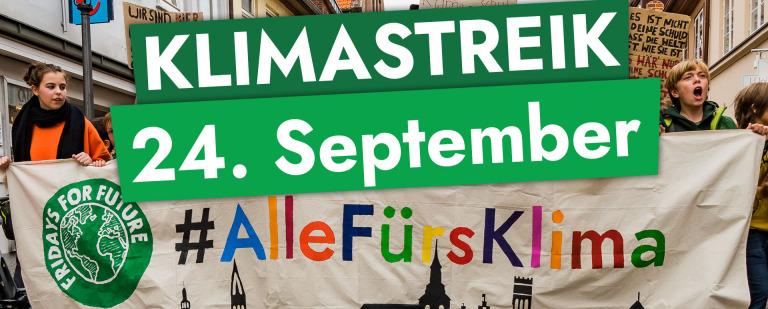 Aufruf zum Globalen Klimastreik am 24.9. und  Klimawahl am 26.09.